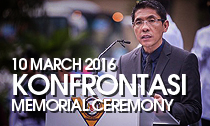 SAFVL holds Konfrontasi Memorial Ceremony on 10 March 2016