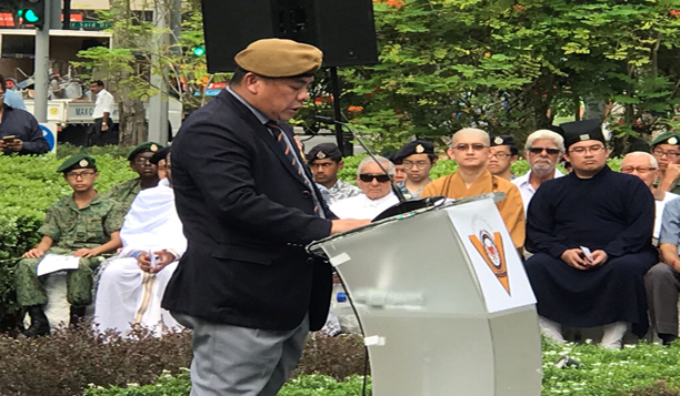 SPEECH BY THE PRESIDENT OF THE SAF VETERANS' LEAGUE