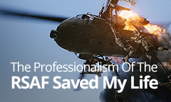 The professionalism of the RSAF saved my life